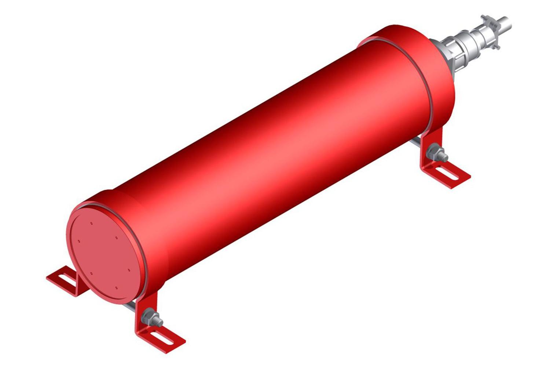 Устройства газового пожаротушения